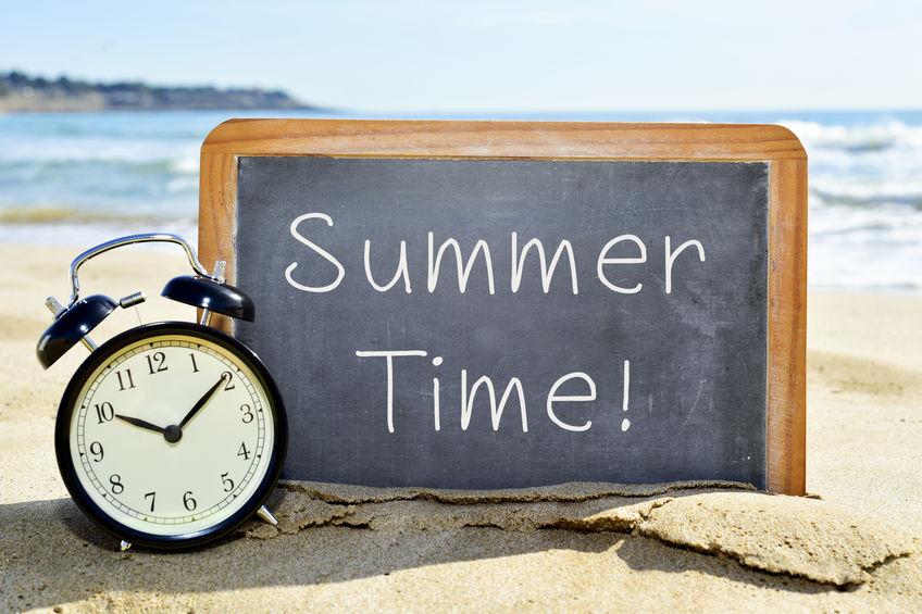 De zomertijd voorbij